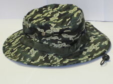 Camo Boonie Hat Cap Rain Forest Green Sun Visor Army Military Fishing Hunting