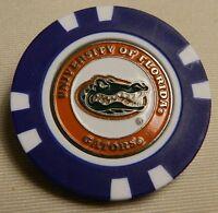 NCAA Florida Gators UF Magnetic Poker Chip removable Golf Ball Marker