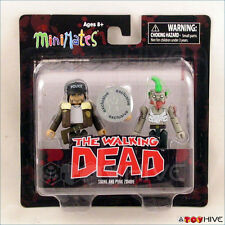 The Walking Dead Minimates figures Shane and Punk Zombie Toys R Us exclusive