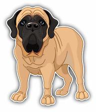 "English Mastiff Mascot Dog Car Bumper Sticker Decal 4"" x 5"""