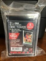 5 Pack of Ultra Pro One-Touch Black Border 130pt Point Magnetic Card Holder P