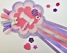 Pink Lilac Glittery Birthday Badge Rosette, Personalised Keepsake Large