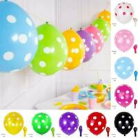 """12"""" Colorful Polka Dot Balloons Baby Shower Wedding Birthday Party Decoration"""