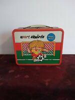 Vintage Sport Skwirts Metal Lunchbox Woodie Score Freddie Faceoff 1980