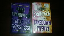 Janet Evanovich Lot of 2 Books-Smokin Seventeen & Takedown Twenty