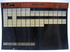 Kawasaki KZ750 1981 - 1982 Parts Microfiche NOS k376