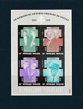 Togo bloc  mémoire général de Gaulle    de 1971   num:  50   **