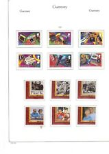 GUERNSEY 1995-2001 - four pages of sets MUH