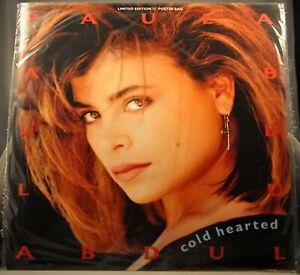 "Paula ABDUL Cold Hearted 3 REMIXES Orig 1990 12"" UK VINYL Record + POSTER! NEW"