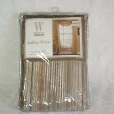 Wamsutta Ashley Green Stripe Scarf Valance Gold Sheer Curtain 50 X 216  NEW