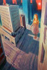 """NUOVO ORIGINALE MARCHIO Harrison """"sognatore"""" GIRL NEW YORK CITY fantasiosa pittura ad olio"""