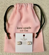 New Kate Spade Pearl Blush Gumdrop Earrings Rose Gold Studs w Dust Pouch CUTE!