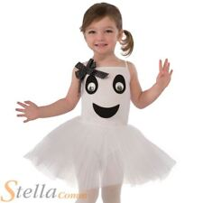 Girls Bootiful Ghost Ballerina Costume Halloween Fancy Dress Toddler Age 2-3