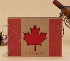 DIY Kraft 30Pages 19.5 x 26.5cm MDF Cover Photo Album Wedding Scrapbook Canada
