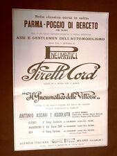 Pubblicità del 1924 Pneumatici Pirelli Usati nella corsa Parma-Poggio di Berceto