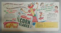 Kellogg's Cereal Ad: Chiquita Banana Transfers From 1948 Size: 7.5 x 15 inches