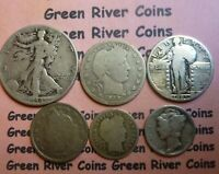 Liberty Type Coin Collection  Classic Old U.S. Coin 90% Silver  #T6S