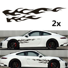 "Universal Black Flame Totem Graphic Decal Car Door Wheel Fender Sticker 11""x48"""