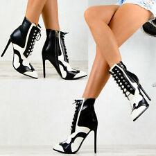 Neu Damen Stiefeletten Pumps Schuhe Party High Heels Elegante Stilettos SeXy
