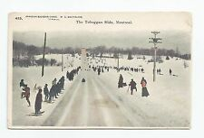 Private Post Card Toboggan Slide Montreal, Canadian Souvenir Card W G MacFarlane
