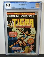 Marvel Chillers #3 1976 CGC Graded 9.6  Origin Tigra ~ Chaykin & Wrightson Cover