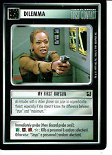 STAR TREK CCG FIRST CONTACT RARE CARD MY FIRST RAYGUN