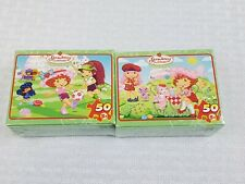 2-STRAWBERRY SHORTCAKE 5 x 7 50 pc puzzles SOCCER MATCH & ICE CREAM PARLOR- NEW