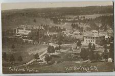 1910 era Hot Springs South Dakota SD Soldeirs Home Real Photo Postcard RPPC