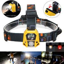 1000LM COB+XPE 2 LED 4 Modalità IR Sensore Proiettore Pesca Faro A caccia 3X AAA