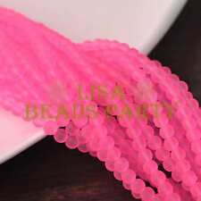 New! 50pcs 6mm Jelly Like Round Loose Spacer Glass Beads Findings Deep Pink