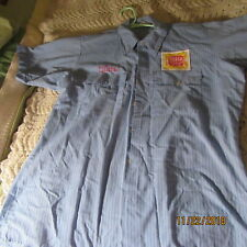 "Blitz Weinhard Beer ""Clara"" Blue Size Large Work Shirt"