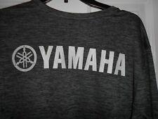 Mens XL Yamaha Factory Motorcycle Racing long sleeve Grey Performance shirt EUC