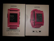 Pebble Smartwatch Pink Silicone Band for Samsung Iphone Android Phone 301PK New