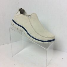 9f994e4d325 New Lands End Nubuck Suede Mocs Slip On Walker Shoes Women s Size 6 B Ivory