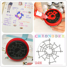 24H Time Clock Date Stamp Photosensitive Seal Student Stamper Chronodex Time Pie