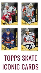 TOPPS SKATE GRANIT PESCE, HAGELIN, BELLOWS, DOWD ICONIC CARDS