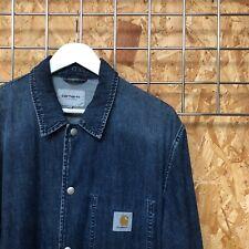 Carhartt Denim Coach Jacket - L LARGE - chore/coat/michigan vintage workwear