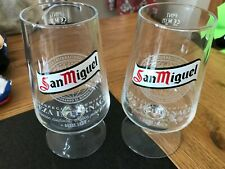 Two NEW San Miguel Chalice Pint Glasses - Ideal for Home Bar - Pub