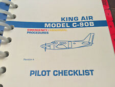 Beechcraft King Air C-90B Pilot's Emergency Abnormal Checklist