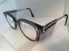 Vintage Fendall T-30 Gray Horn Rimmed Silver Metal Sunglasses Eyeglasses Frames
