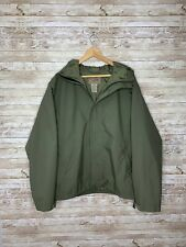 Vintage LL Bean Army Green Gore-Tex Windbreaker Jacket Sz XL Hooded