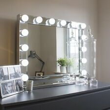 XLarge Hollywood Mirror LED Globe Lights Light up Makeup Vanity - Mirrored Frame