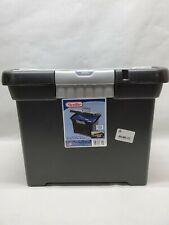 Sterilite Portable File Box Black
