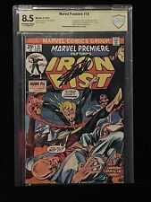 🔥MARVEL PREMIERE #15 5/74 CBCS 8.5  SIGNED STAN LEE! FIRST IRON FIST KEY BOOK