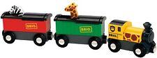Brio SAFARI TRAIN Baby/Toddler/Child Wooden Toy Train Tracks BN