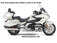 2018 Honda Goldwing Gold Wing Gl1800 /D /Da /B Bd Abs Service Repair Manual Pdf