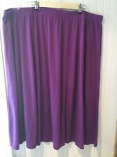 Roamans Purple Knit Skirt 5X Comfort T Shirt Knit EUC Knee Length