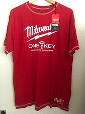 Milwaukee TOOLS T-shirt Size L Red Mens Top Logo One Key Large M18