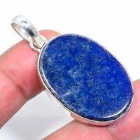 "Lapis Lazuli Handmade Ethnic Style Jewelry Pendant 1.97"" VJ-5892"
