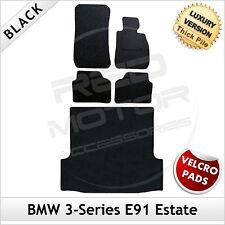 BMW 3-Series E91 Estate 2005-2013 Velcro Tailored LUXURY 1300g Car & Boot Mats